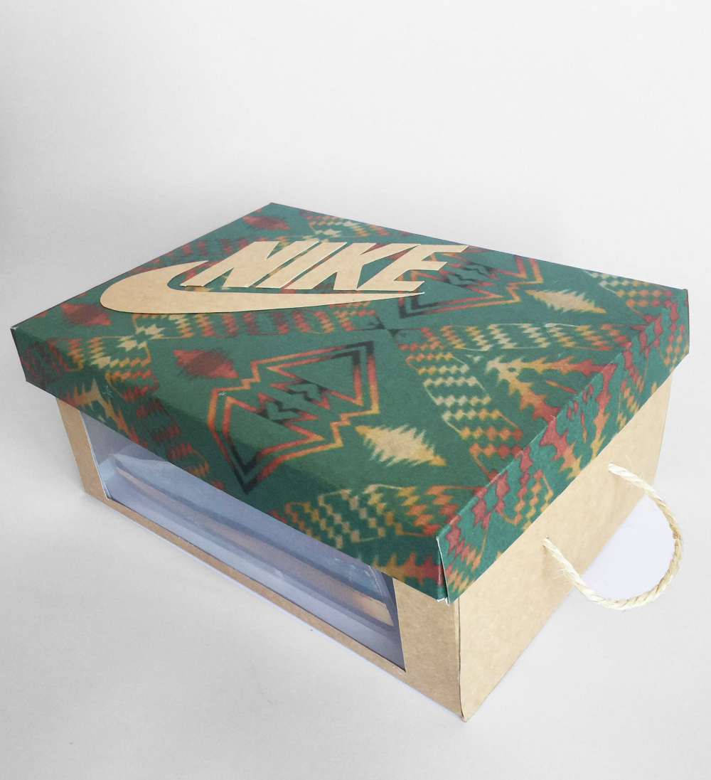 The Assignment Was To Create A Shoe Box In Two Hours, Using Either An  Imaginary Or An Existing Brand. We Decided To Use Nikeu0027s Pendleton Sneaker  And Create ...