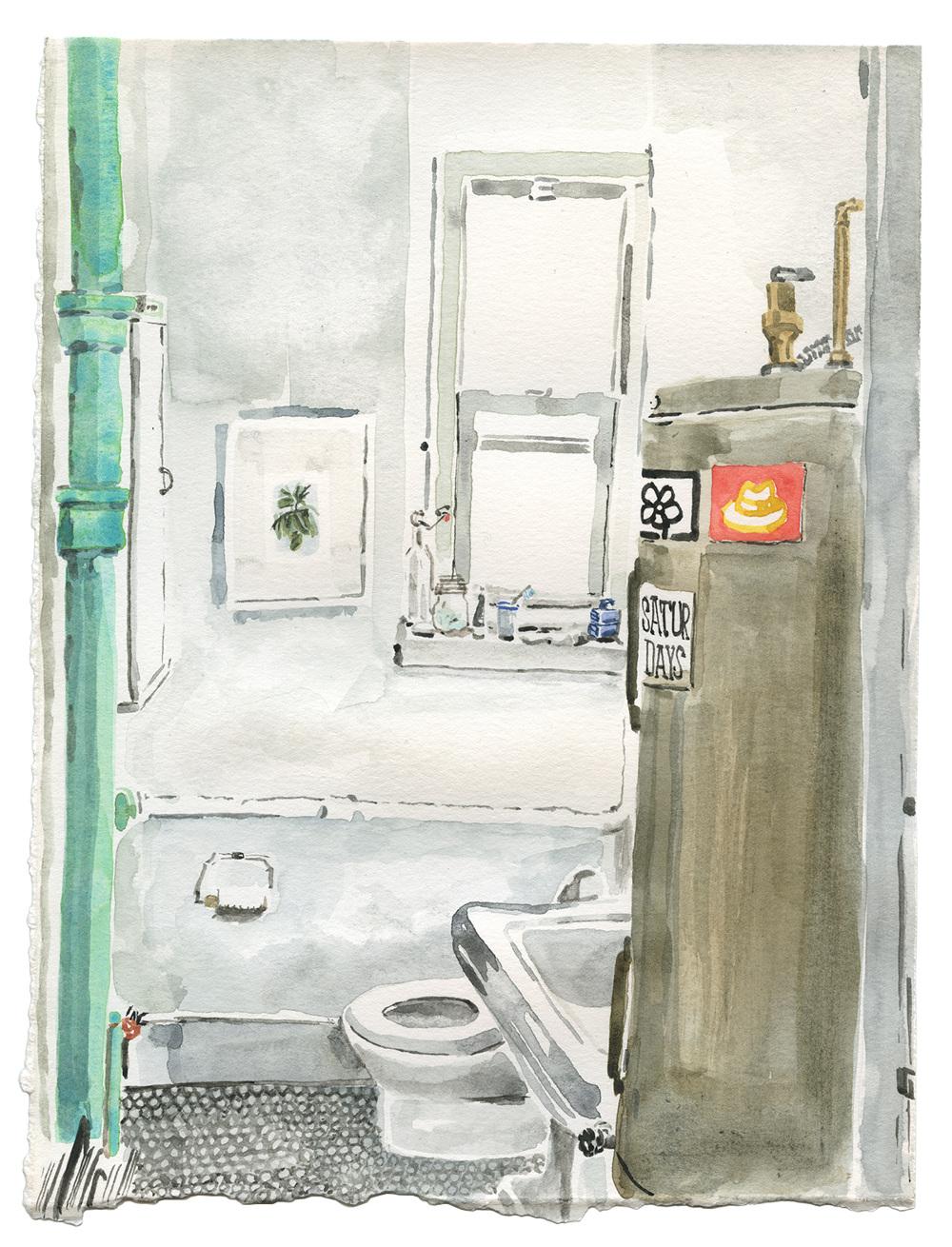 Soda 9 x12 watercolor on paper